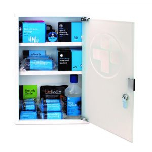 Medium Catering First Aid Kit in Cabinet