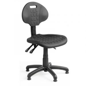 Fully ergonomic polyurethane industrial chair on glides