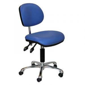 Clean room gas lift chair - castors