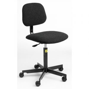 ESD Static Dissipative Gas Lift Chair on castors - Charcoal Fabric