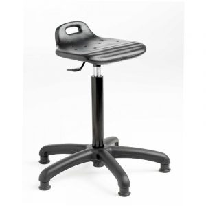 Polyurethane Cushioned Posture / Perching Gas Lift Stool - Glides