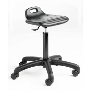 Polyurethane Cushioned Posture / Perching Gas Lift Stool - Castors