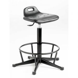Polyurethane Cushioned Posture / Perching Gas Lift Stool with foot ring - Castors