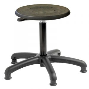 Cushioned polyurethane factory stool - glides