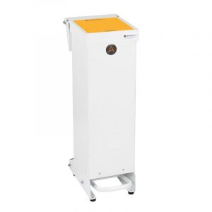 Tidy range of 25l Clinical Waste Bins Metal orange lid