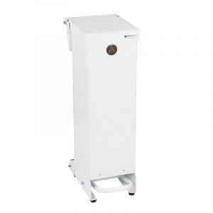 Tidy range of 25l Clinical Waste Bins Metal white lid