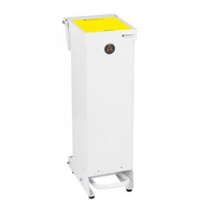 Tidy range of 25l Clinical Waste Bins Metal yellow lid