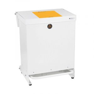Tidy range of 40l Clinical Waste Bins Metal orange lid
