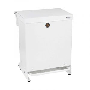 Tidy range of 40l Clinical Waste Bins Metal white lid