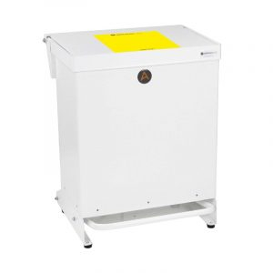 Tidy 40l Clinical Bin Metal yellow lid