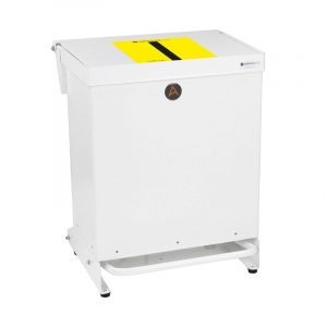 40 litre Tidy plus range of Clinical Waste Bins Metal Tiger Stripe soft close Lid