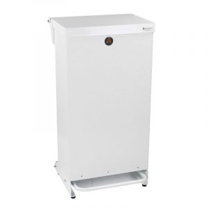 Tidy range of 80l Clinical Waste Bins Metal white lid