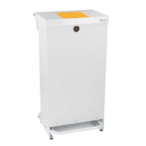 80 litre Tidy plus range of Clinical Waste Bins Metal Orange soft close Lid