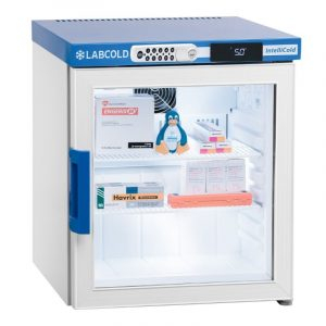 36 litre Labcold pharmacy & vaccine refrigerator with glass door - Bench top with Digilock