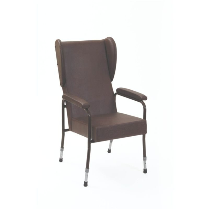 High Back Chair With Upholstered Arms, High Back Upholstered Chairs With Arms