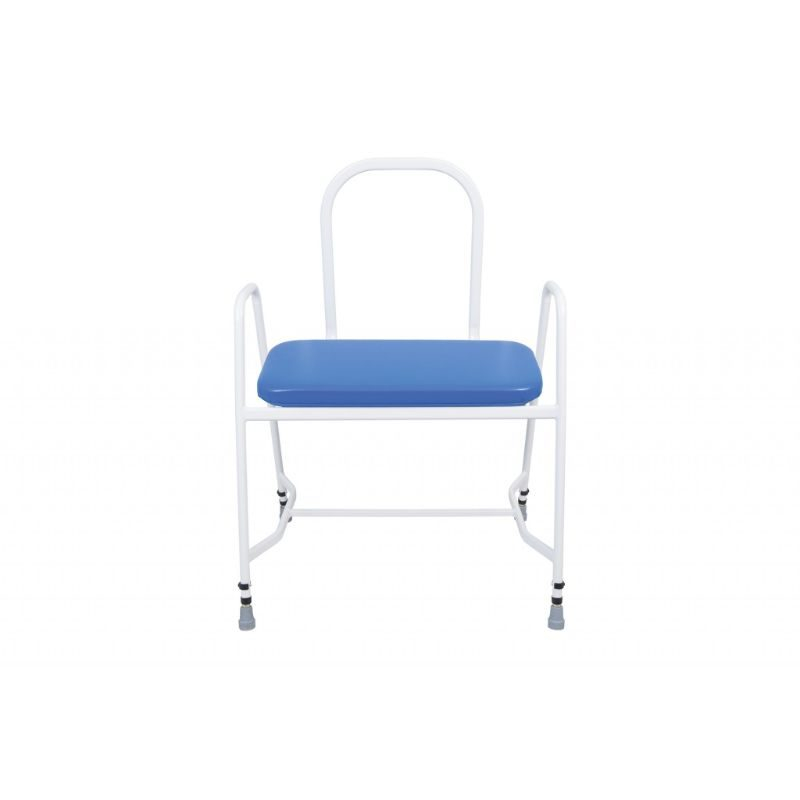 Plus Sized Perching Stool With Arms And