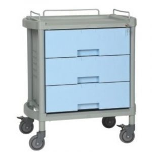 blue storage trolley