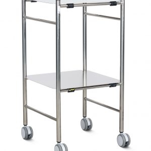 stainless dressing trolley