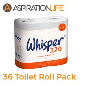 2 Ply white toilet roll