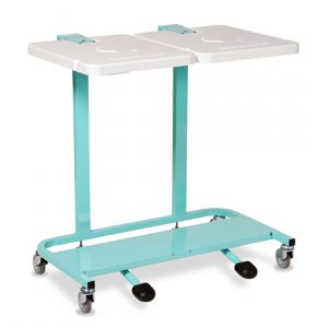 Pedal operated linen trolley