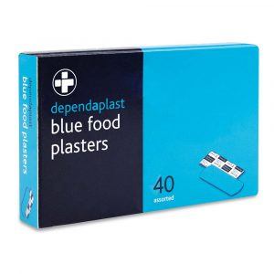 blue washproof plasters