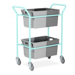 Medical records transfer trolley