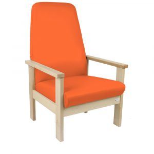 Upholstered High Back Waiting Room Chair 400mm